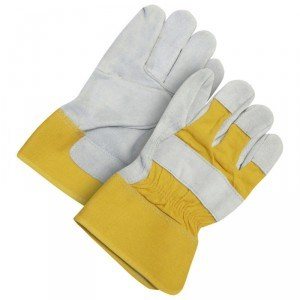 Fitter Glove Split Cowhide Yellow - Unlined