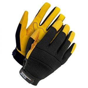 Mechanics Glove Grain Goatskin Palm Yellow - Unlined
