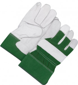 Grain Cowhide Fitter w/Safety Cuff Green - Unlined